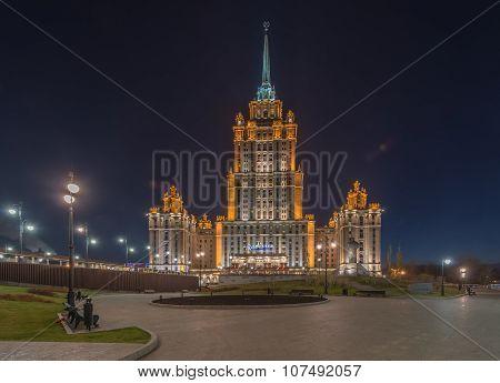 Radisson Royal Hotel Moscow At Night.