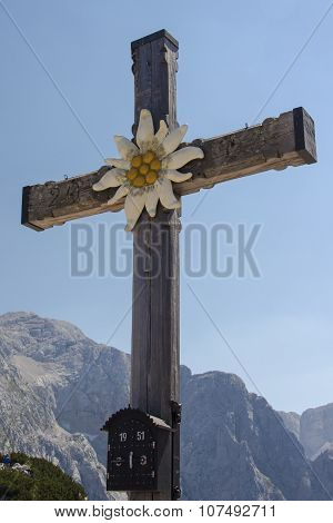 Summit Cross On Top Of The Kehlstein In Berchtesgaden, Germany, 2015