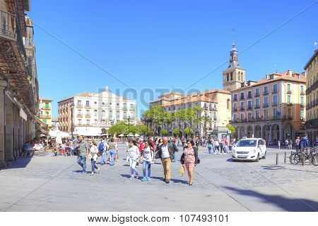 Segovia. Spain. Urban Landscape. Plaza Mayor