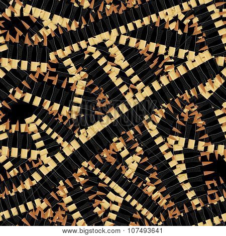 Bandolier Tape Bullets Seamless Pattern. Military Background. Bullets For Automatic Texture. Cartrid