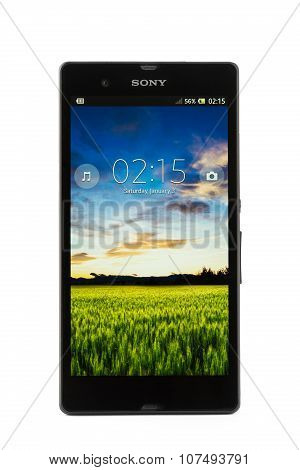 Varna, Bulgaria - March 03, 2013: Cell Phone Model Sony Xperia Z Has Tft Capacitive Touchscreen, 13.