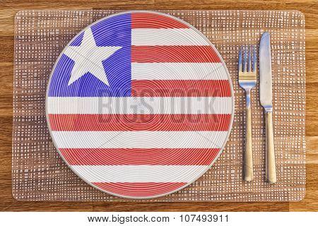 Dinner Plate For Liberia