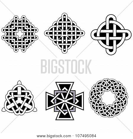 set of beautiful Celtic patterns