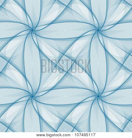 Blue seamless fractal veil pattern design