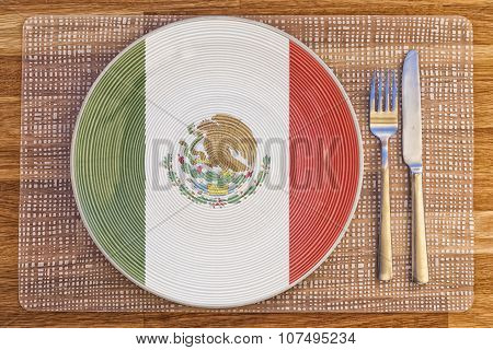 Dinner Plate For Mexico