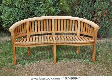 Wooden Garden Bench, South Bohemia