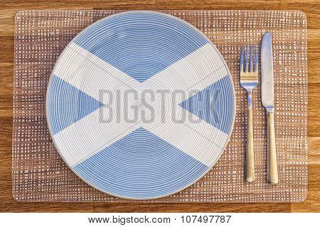 Dinner Plate For Scotland
