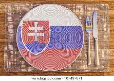Dinner Plate For Slovakia