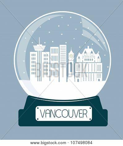 Vancouver Chtistmas Glass Ball.