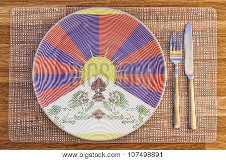 Dinner Plate For Tibet