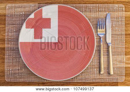 Dinner Plate For Tonga