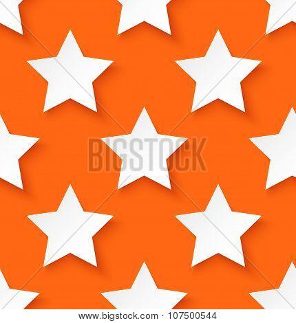 White paper seamless star pattern background