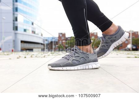 Man Running In Sneakers