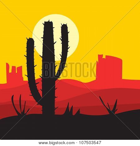 vector sunset landscape