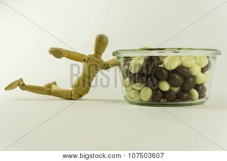 Wooden Doll With Candies
