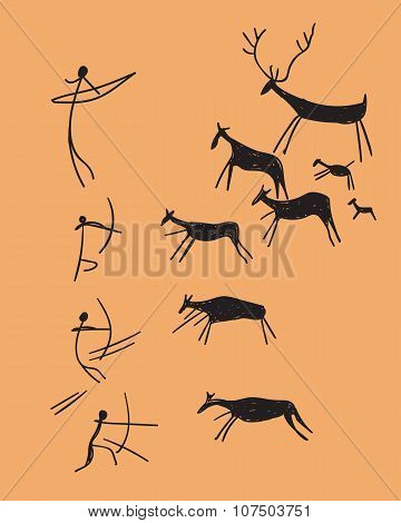 vector depicting hunting