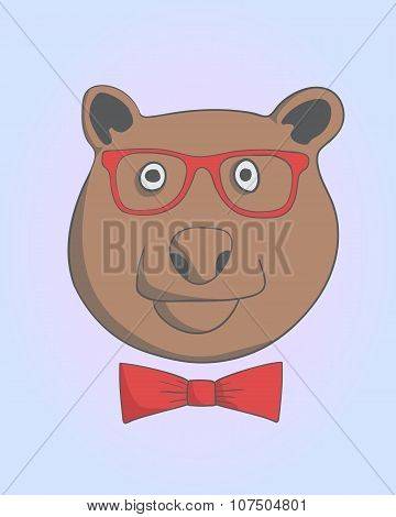 hipster ambitious bear