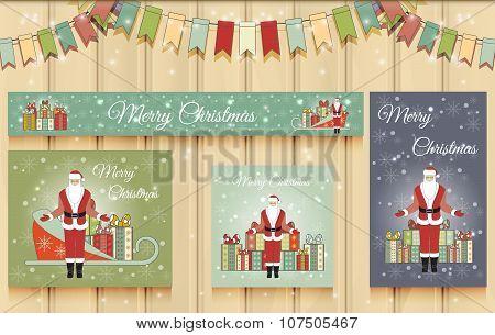 Christmas Set of Web Banners.