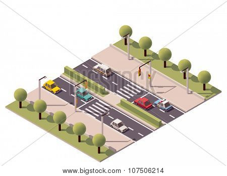 Isometric zebra crossing on the highway