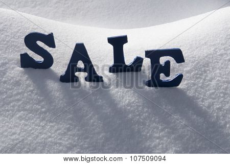 Blue Word Sale On Snow