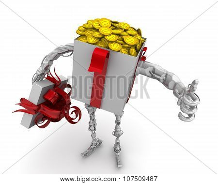Money - the best gift. Concept with American coins