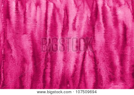 Abstract Pink Watercolor On Paper Texture As Background