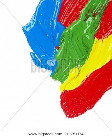 Color Strokes Oil Paint Brush Art