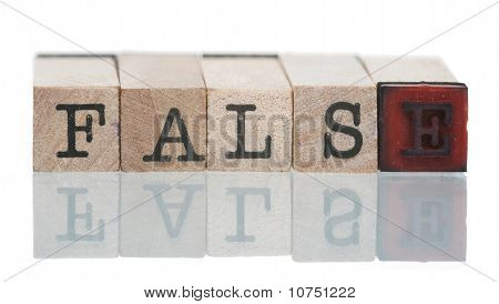 False  Written With Wooden Blocks