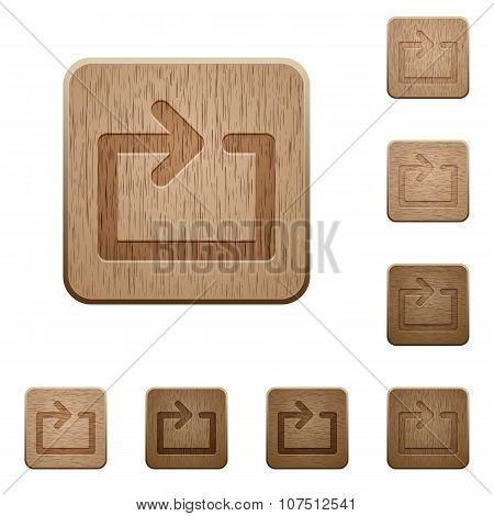 Media Loop Wooden Buttons