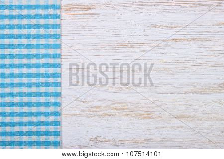 Tablecloth Textile Texture On Wooden Background