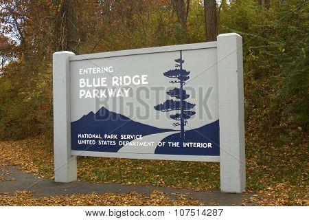 Blue Ridge Parkway Signage