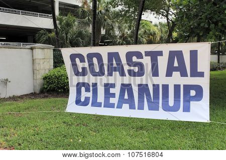 Large Coastal Cleanup Sign
