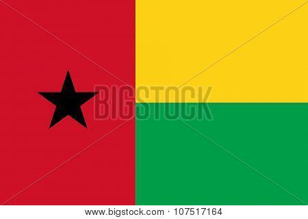 Flag Of Guinea - Bissau