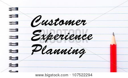 Customer Experience Planning