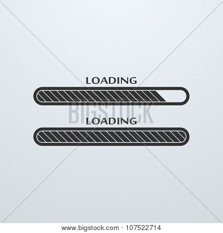 Loading, Uploading, Downloading Status Bar Icon