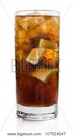 Cuba Libre Longdrink (isolated On White)