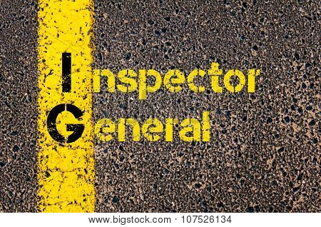 Business Acronym Ig As Inspector General