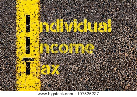 Business Acronym Iit As Individual Income Tax