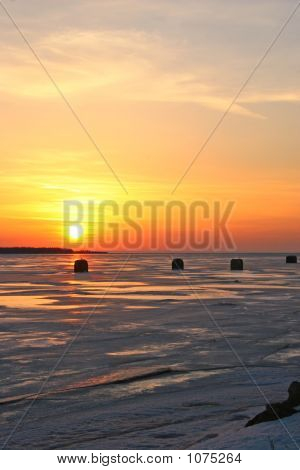 Sunset Fishing Shacks