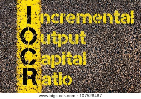 Business Acronym Iocr As Incremental Output Capital Ratio
