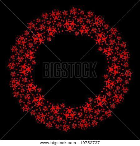 Biohazard Christmas wreath