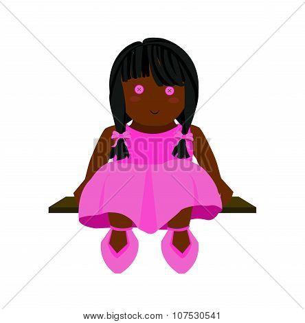 Rag Doll Illustration Pink