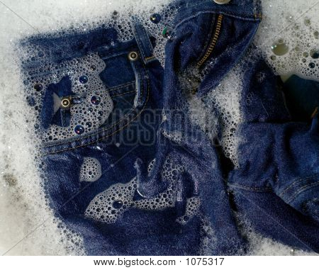 Jeans Being Washed