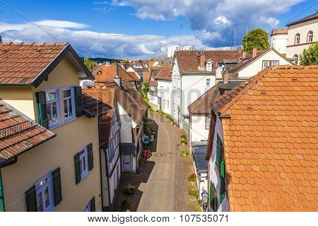 Panorama Of Old Town Of Bad Homburg