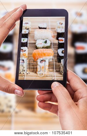Photographing Delicious Sushi Rolls