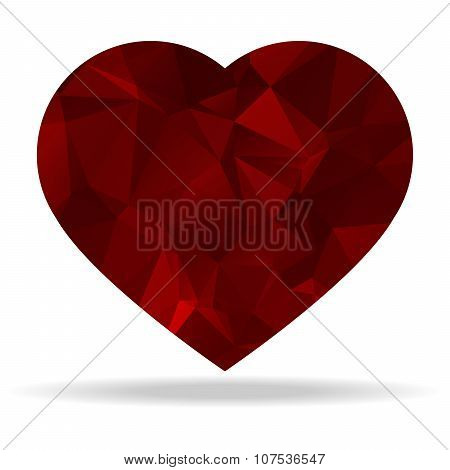 Abstract Triangular Heart