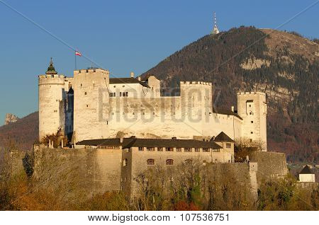 Salzburg Fortress Hohensalzburg in Austria