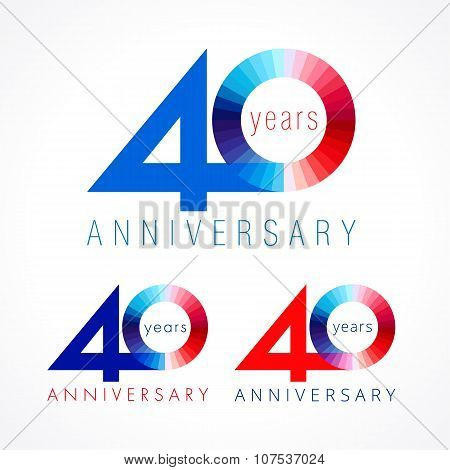 40 anniversary red and blue logo.