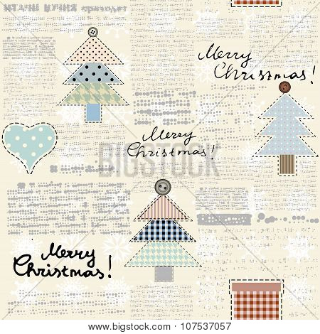 Christmas newspaper background