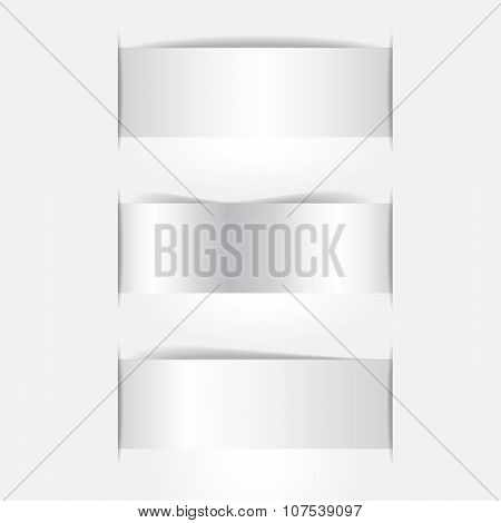 Stock Vector Paper Cut With Shadow On The Grey Background.
